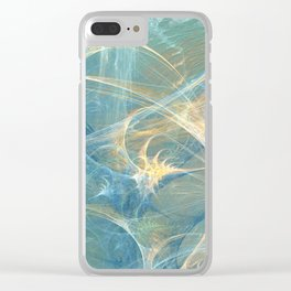 Whisper 3D Abstract Fractal Clear iPhone Case