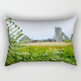 The Fern and the Abbey Rectangular Pillow