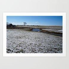 Rural Farmland and Stream Art Print