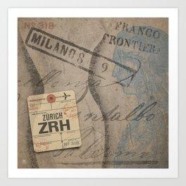 Frontiera ZRH-Milano Art Print