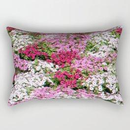 Pink & White Field Rectangular Pillow