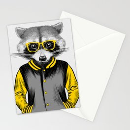 Raccoon Nerd Stationery Cards