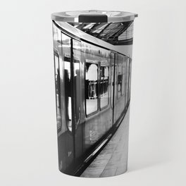 S-Bahn Berlin black and white photo Travel Mug