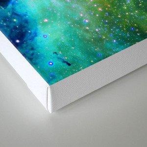 blue green space nebula Canvas Print