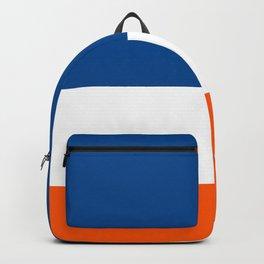 UNEVEN BRILLIANT BLUE DAZZLING WHITE COSMIC ORANGE STRIPED Backpack