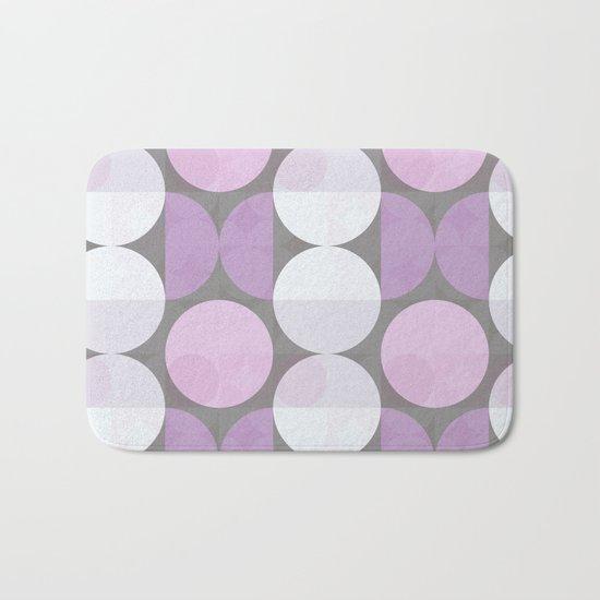 pink grey circular pattern Bath Mat