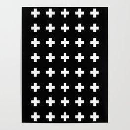 Swiss Cross Black Poster