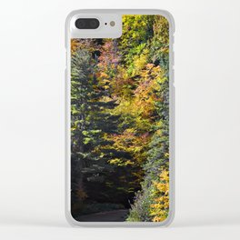 Autumn Mission Hill Clear iPhone Case