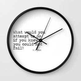 What would you attempt Wall Clock