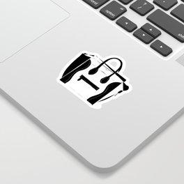 Black and White Luggage Handbag Tote Pattern Sticker