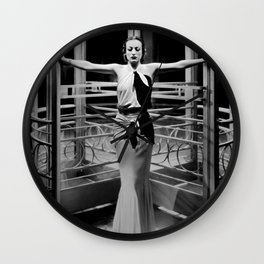 Joan Crawford, Hollywood Starlet Grand Hotel black and white photograph / art photography Wall Clock