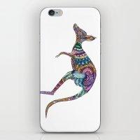 kangaroo iPhone & iPod Skins featuring kangaroo by Annie Liu