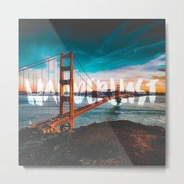 WANDERLUST San Francisco Metal Print
