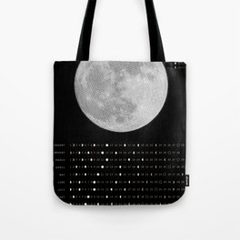 2017 Calendar - Lunar Tote Bag