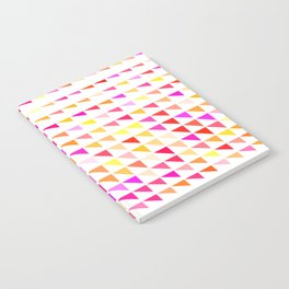 fete triangle pattern Notebook