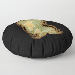 Art Nouveau Flowers Floor Pillow