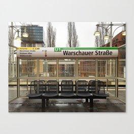 Berlin U-Bahn Memories - Warschauer Straße Canvas Print