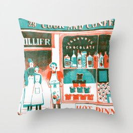 Victorian Confectioners Throw Pillow
