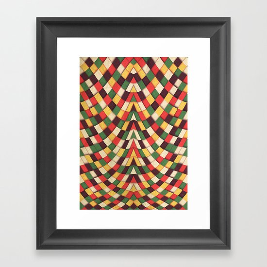 Rastafarian Tile Framed Art Print