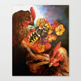 The Birds & The Bee Canvas Print