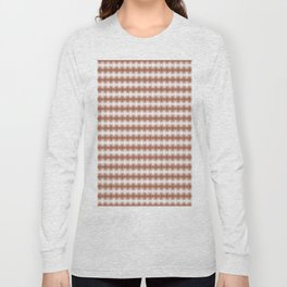 Sherwin Williams Canyon Clay Blurred Abstract Horizontal Line Pattern Long Sleeve T-shirt