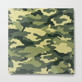 Green camouflage Metal Print