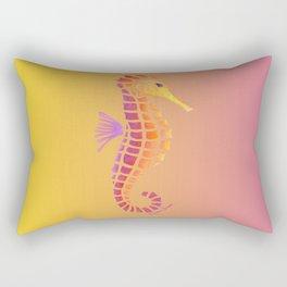 Sunset Seahorse Rectangular Pillow
