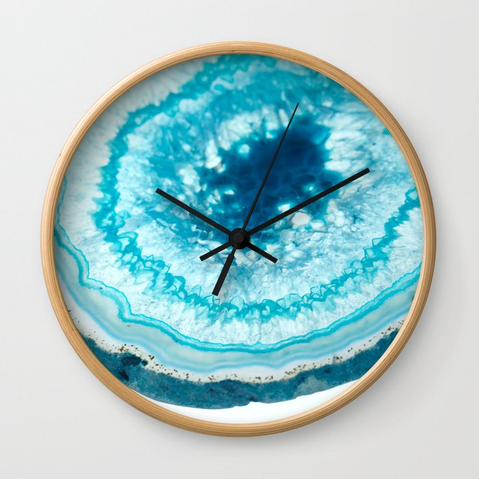Turquoise Agate Well Wall Clock