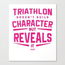 Triathlon Marathon Sport saying gift Canvas Print