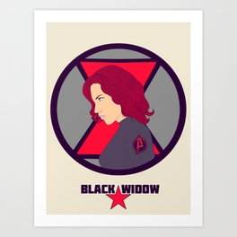 Agent Romanoff Art Print