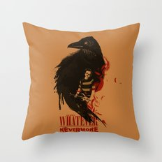 Oh Well, Whatever, Nevermore Throw Pillow