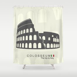 illustration of Roman Colosseum isolated on white background Shower Curtain