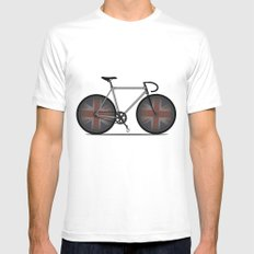 British Cycling is Brilliant White SMALL Mens Fitted Tee