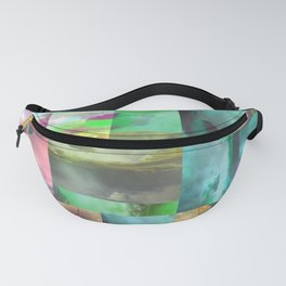 Geometric Clouds and Sky Fanny Pack