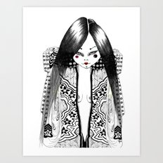 Ma petite japonaise Art Print