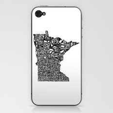 Typographic Minnesota iPhone & iPod Skin