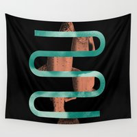 fishing Wall Tapestries featuring Lets Go Fishing by Tyler Spangler
