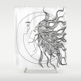 Sun and Moon II Shower Curtain