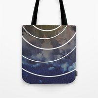 moon phases Tote Bags featuring Moon Phases by rollerpimp