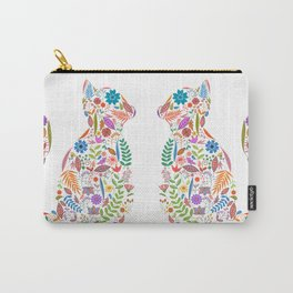 Fancy And Fine Flowered Cat Garden Design Carry-All Pouch