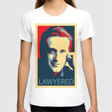 LAWYERED Womens Fitted Tee White SMALL