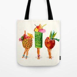 Tiki Cocktail Pin-Ups Tote Bag
