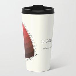 Le Rouge-Orangé (ses diverses nuances combinées avec le noir) Remake (Interpretation) Travel Mug