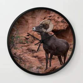 Desert Bighorn, Valley of Fire - III Wall Clock