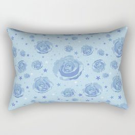 Baby blue cute roses Rectangular Pillow