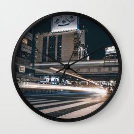 Blue / Shibuya Traffic Wall Clock
