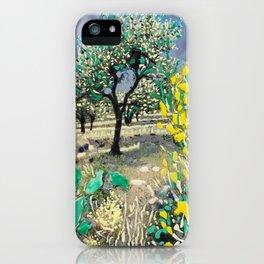 Olive Tree & Gorse Bush iPhone Case