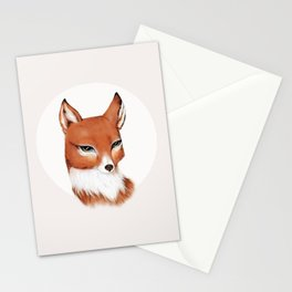 Moon Vixen in Orange Stationery Cards