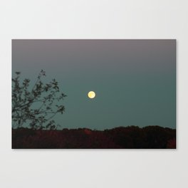 Full Moon Over Rhode Island Canvas Print