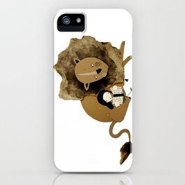 Reading To Lions iPhone Case